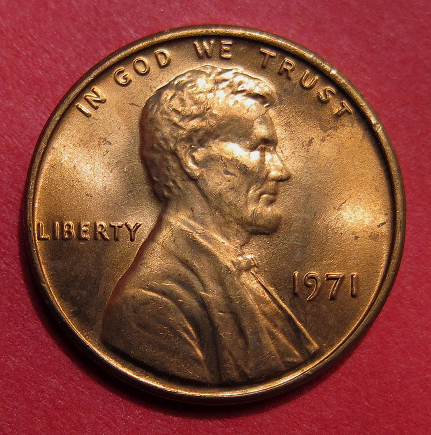 BU FREE SHIPPING 1971 P Lincoln Cent