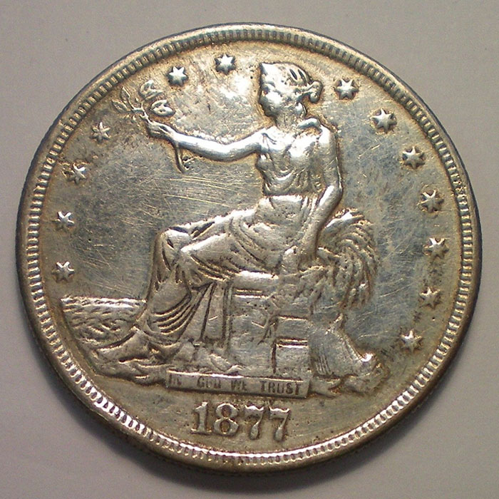 Counterfeit Fake 1877 S Trade Dollar Coin Community Forum