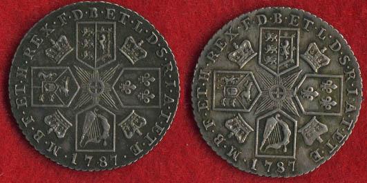 Iii 1787 Silver Shilling