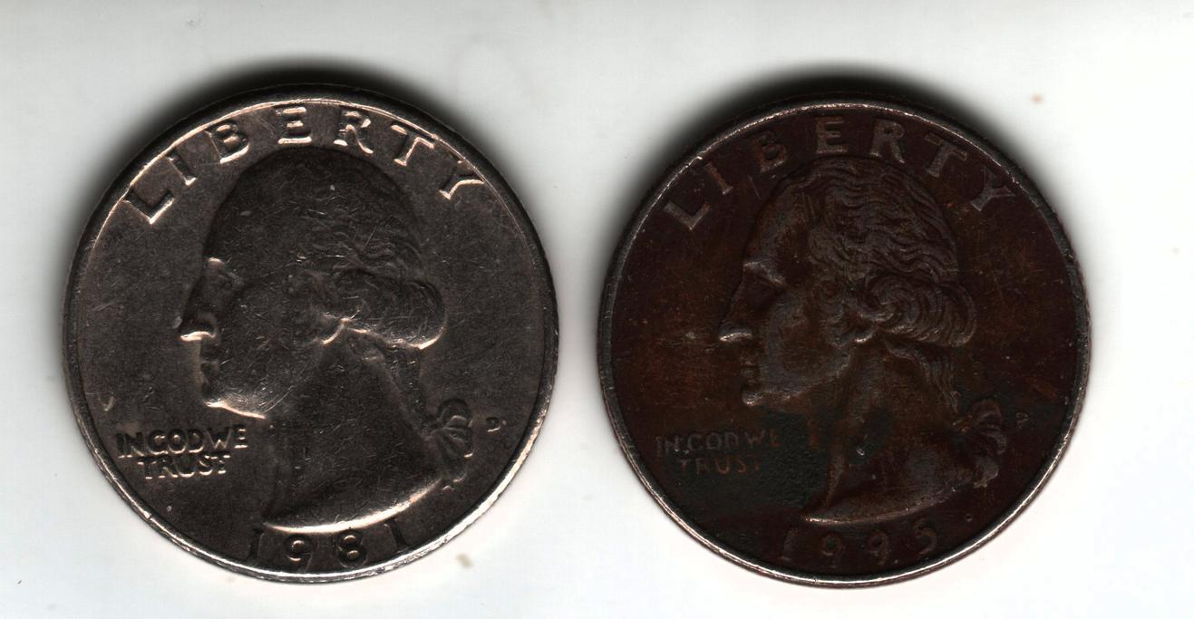 1995 quarter - dark colour  - Coin Community Forum