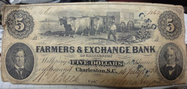 Confederate States of America Currency, 1863 & 1864 - Coin