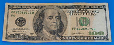 Coin Washing Machine >> 2003 A 100 hundred dollar bill color - Coin Community Forum