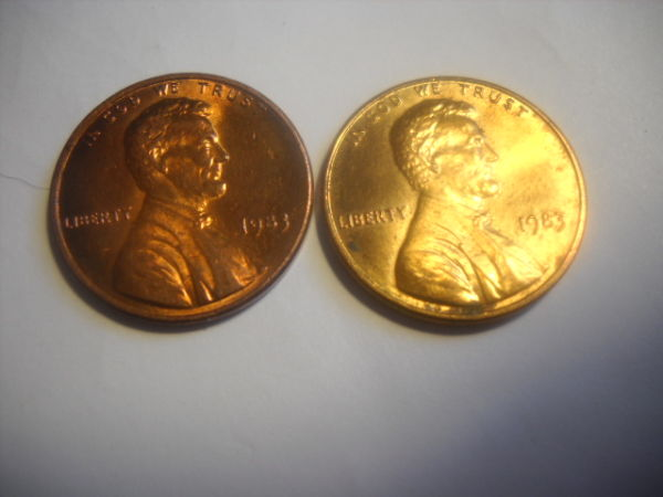 1983 Lincoln Memorial Cent Lmc Brass Plated Planchet