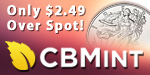 American Silver Eagles only $2.49 over Spot!