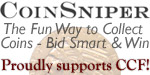 CoinSniper.com is the numismatic penny auction.