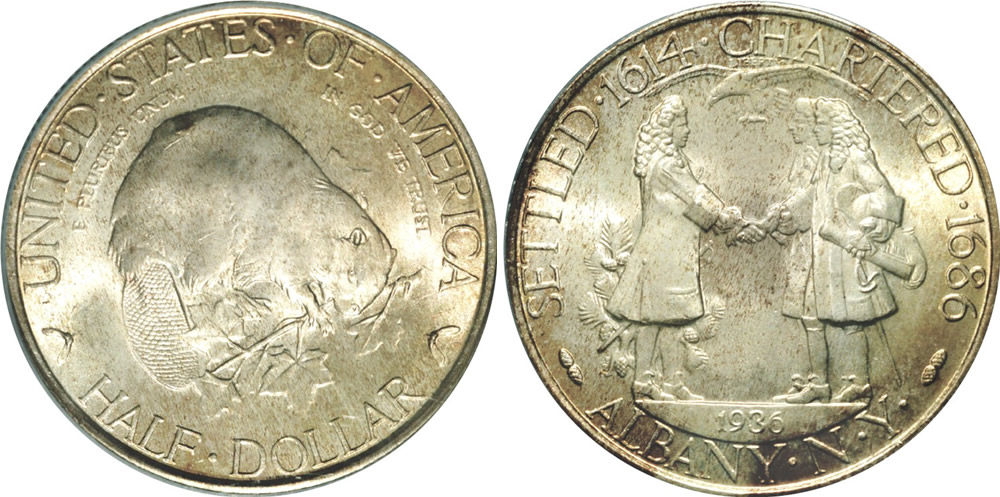 1936 Albany Charter Half Dollar Commemorative