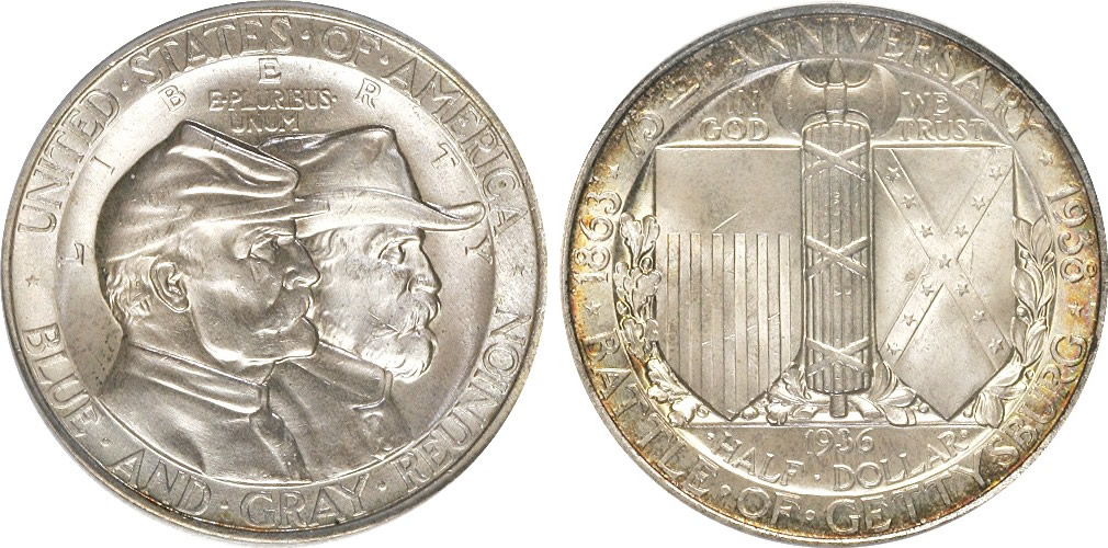 Us Battle Of Gettysburg Half Dollar Commemorative History