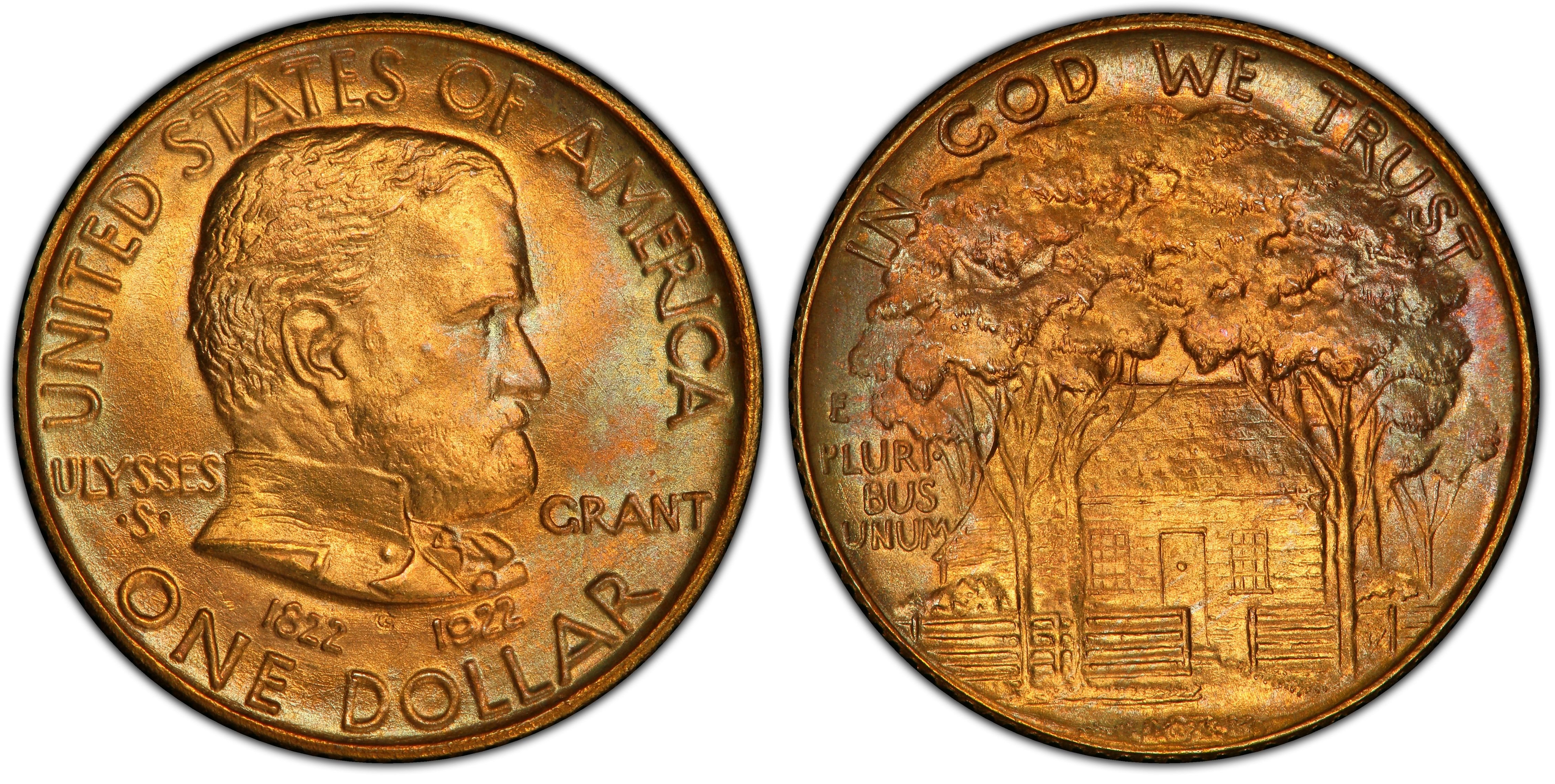 Grant Centennial Gold Dollar Commemorative Grant Centennial Gold Dollar Commemorative Without Star
