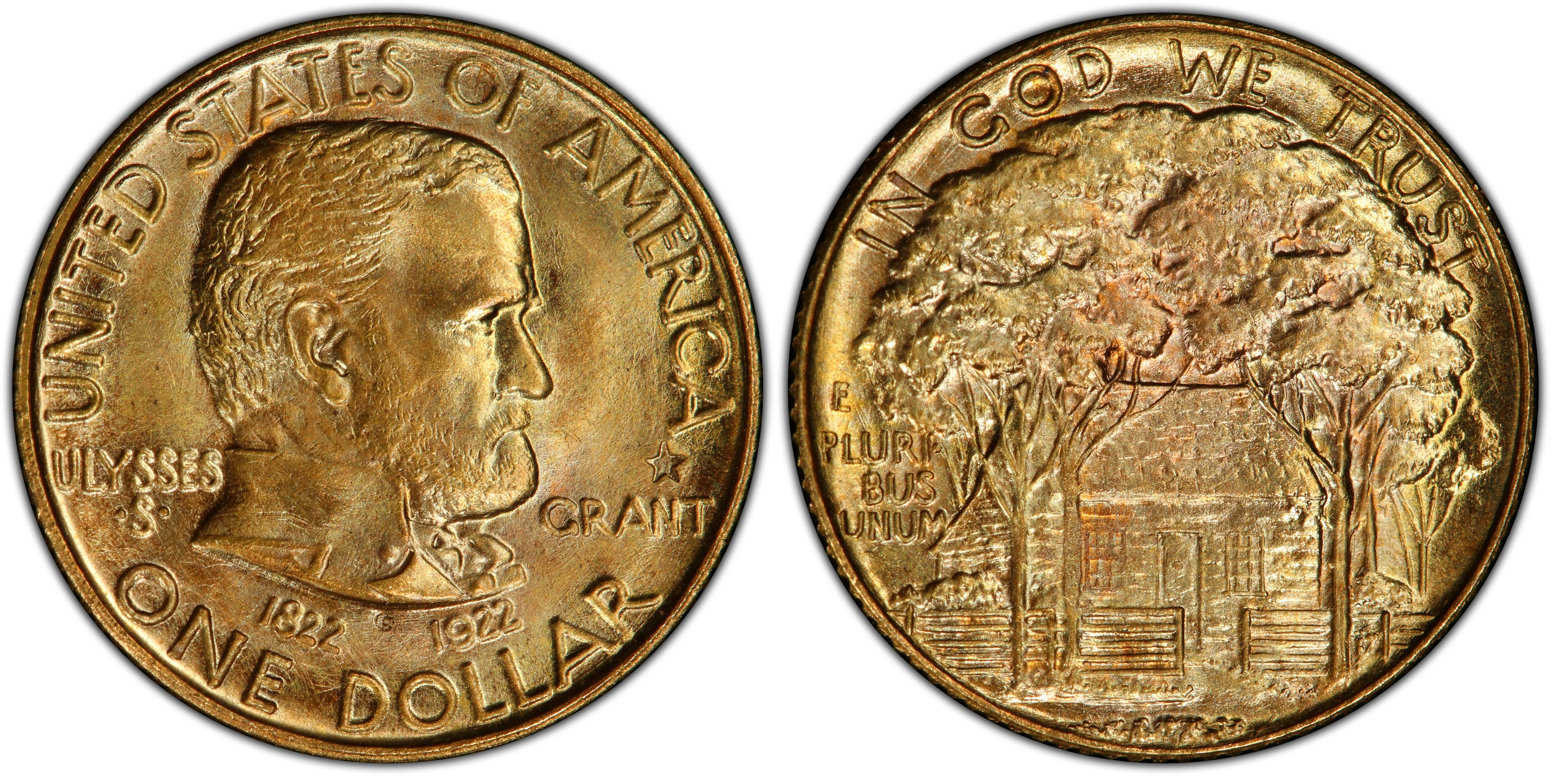 Grant Centennial Gold Dollar Commemorative Grant Centennial Gold Dollar Commemorative With Star
