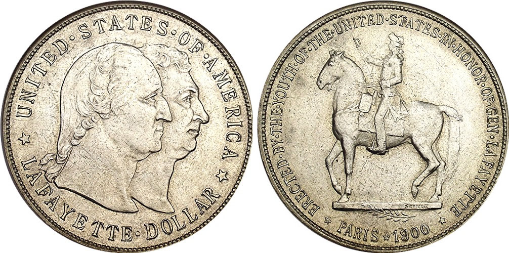 Lafayette Memorial Silver Dollar Commemorative
