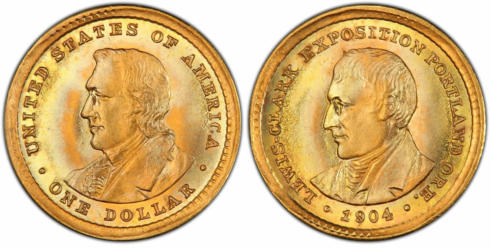 Lewis & Clark Exposition Gold Dollar Commemorative