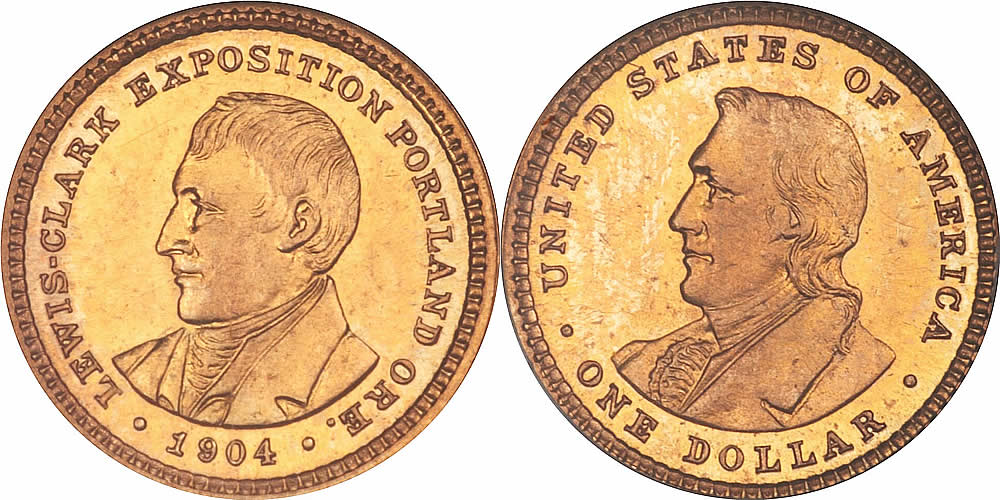 Proof Lewis & Clark Exposition Gold Dollar Commemorative Proof Lewis & Clark Exposition Gold Dollar Commemorative