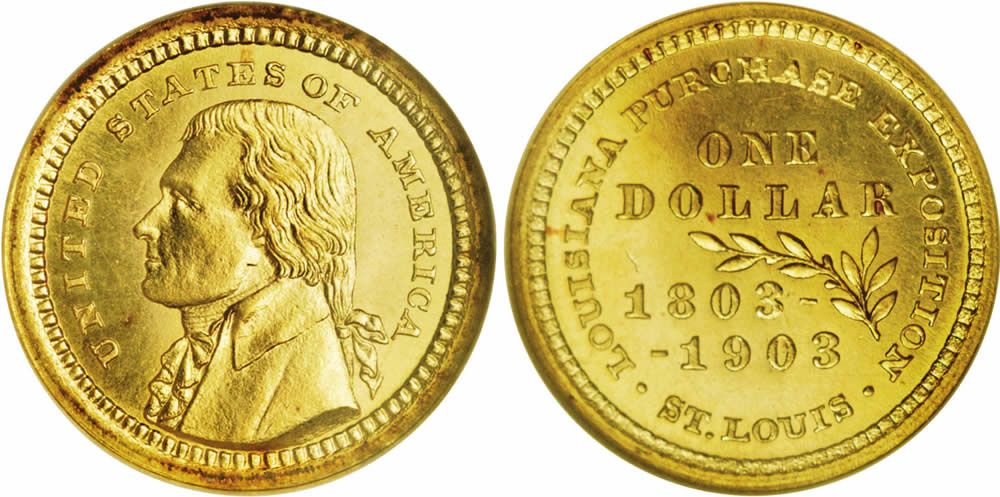 Louisiana Purchase Exposition Gold Dollar Commemorative