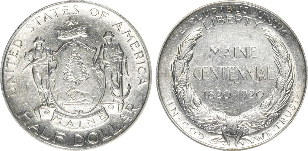 Maine Centennial Half Dollar Commemorative