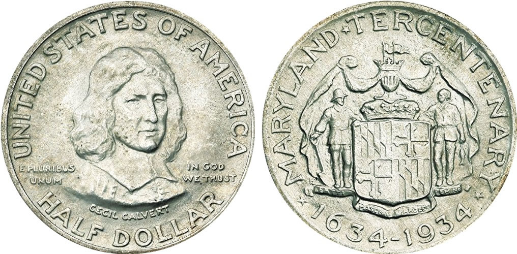 Maryland Tercentenary Half Dollar Commemorative Maryland Tercentenary Half Dollar Commemorative