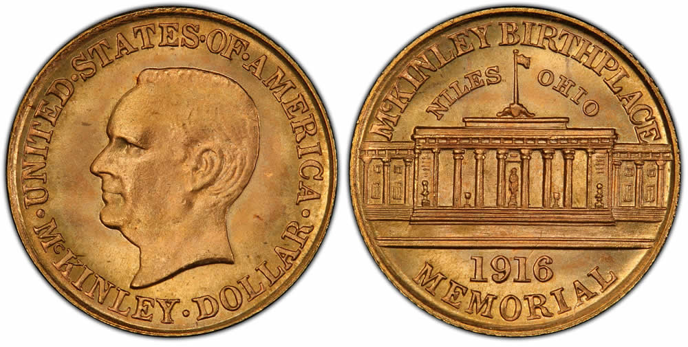 McKinley Memorial Gold Dollar Commemorative McKinley Memorial Gold Dollar Commemorative