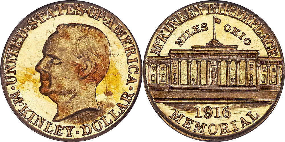 Proof McKinley Memorial Gold Dollar Commemorative Proof McKinley Memorial Gold Dollar Commemorative