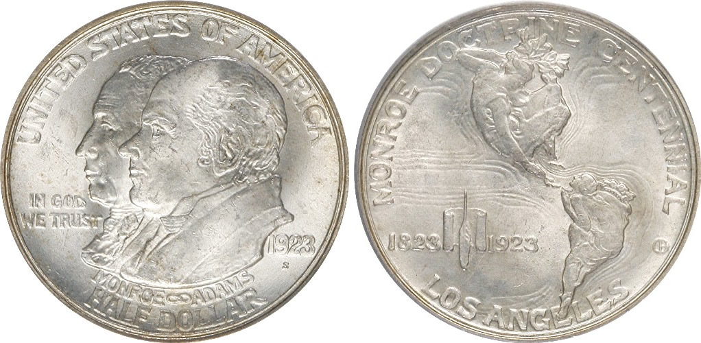Monroe Doctrine Centennial Half Dollar Commemorative Monroe Doctrine Centennial Half Dollar Commemorative