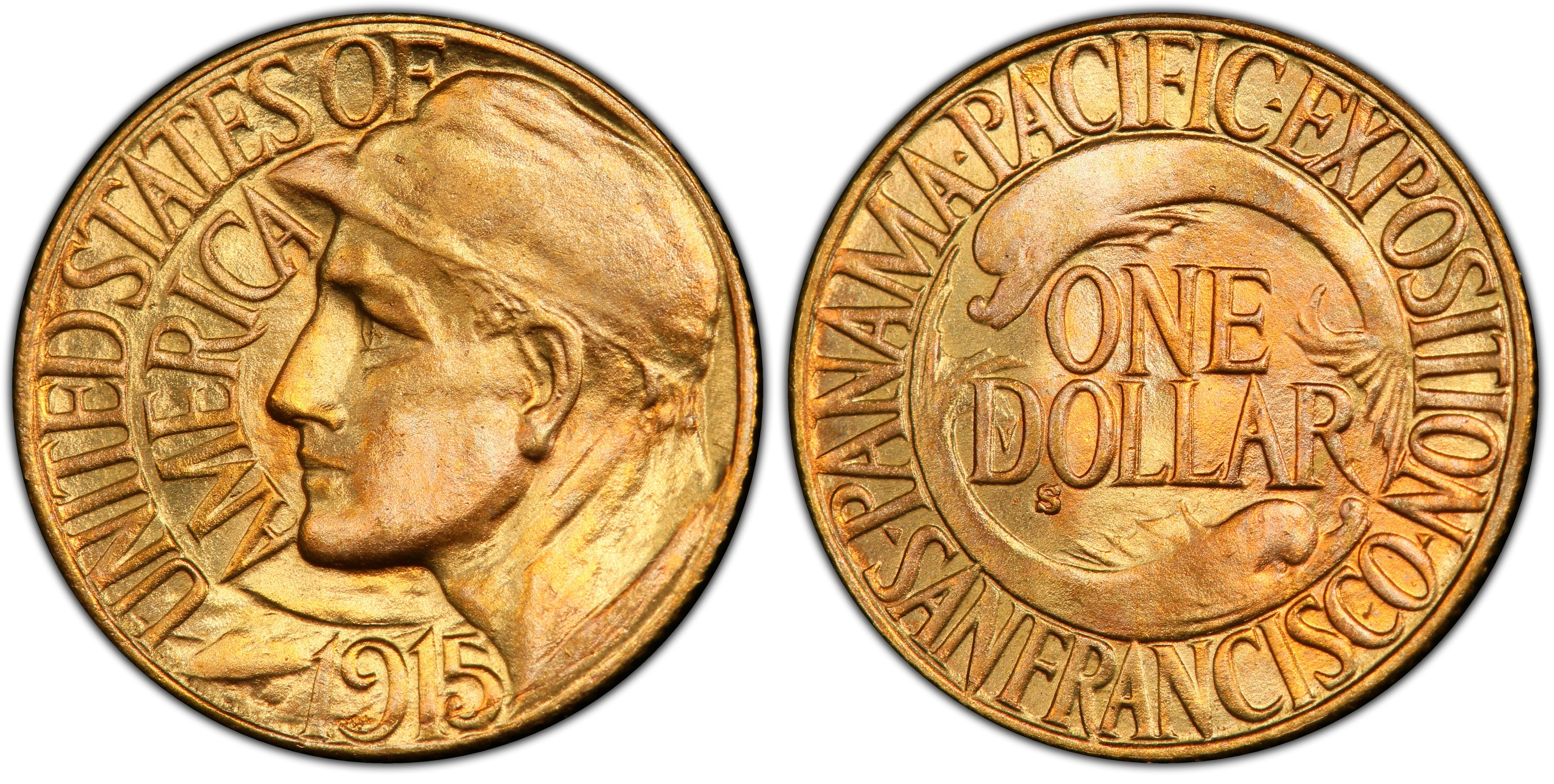 Panama-Pacific International Exposition Gold Dollar Commemorative