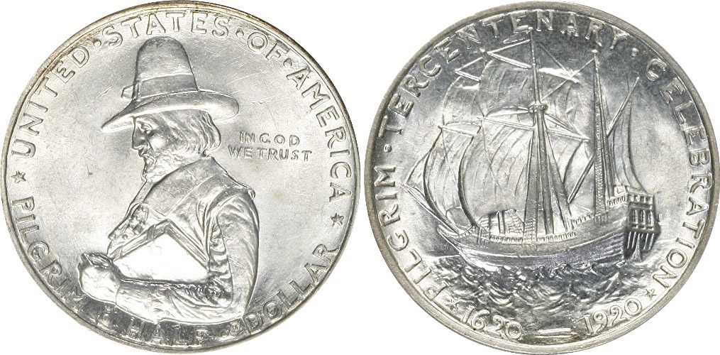Pilgrim Tercentenary Half Dollar Commemorative Pilgrim Tercentenary Half Dollar Commemorative