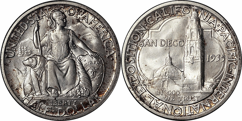 San Diego-California-Pacific Exposition Half Dollar Commemorative San Diego-California-Pacific Exposition Half Dollar Commemorative