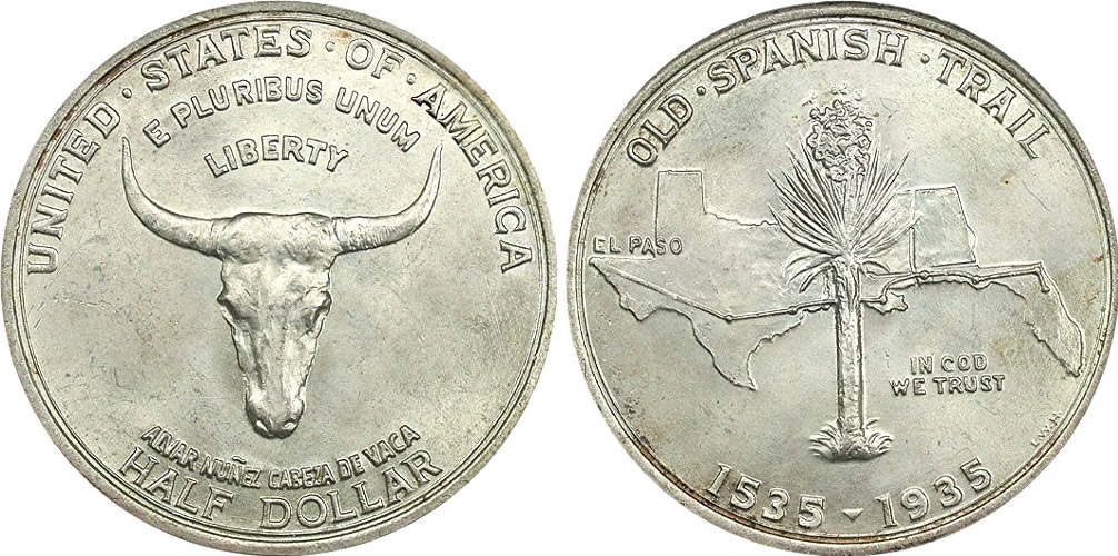 Spanish Trail Memorial Half Dollar Commemorative