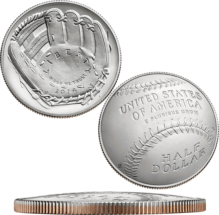 2014 P $1 Baseball Hall of Fame Commemorative Silver Dollar Choice Proof