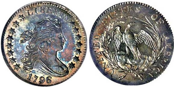 Us 1796 1797 Draped Bust Small Eagle Dime History Coin