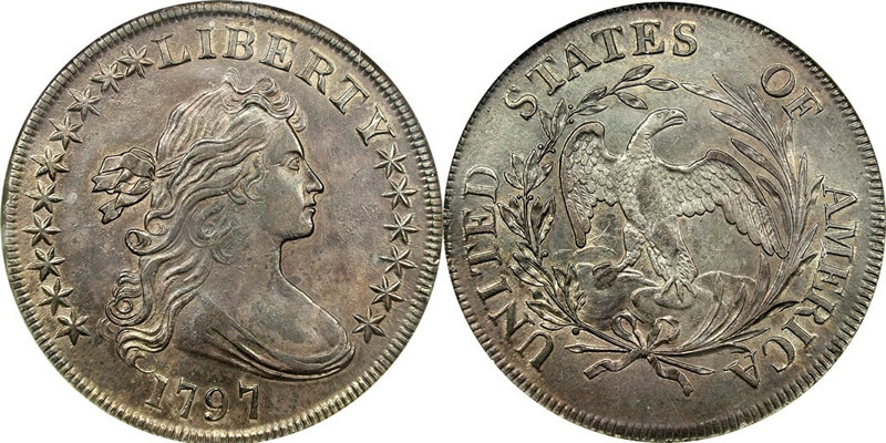 1797 Draped Bust Dollar (Small Eagle)