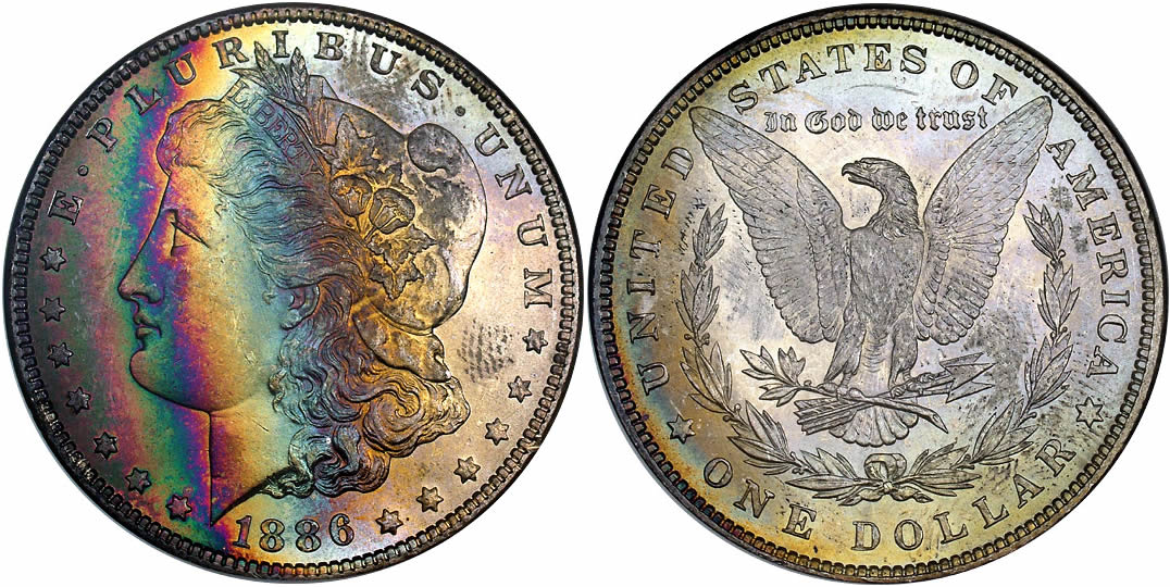 1886 Morgan Dollar NGC MS-63 from the Binion Collection