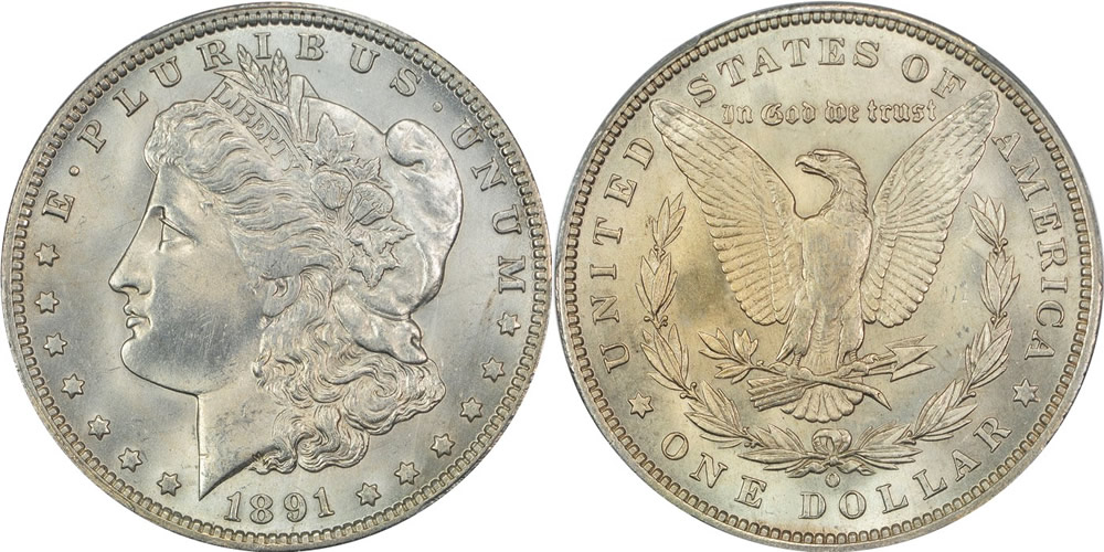 1891 O Morgan Dollar PCGS MS-64