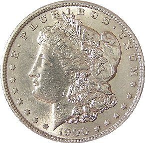 1900 Morgan Dollar Obverse