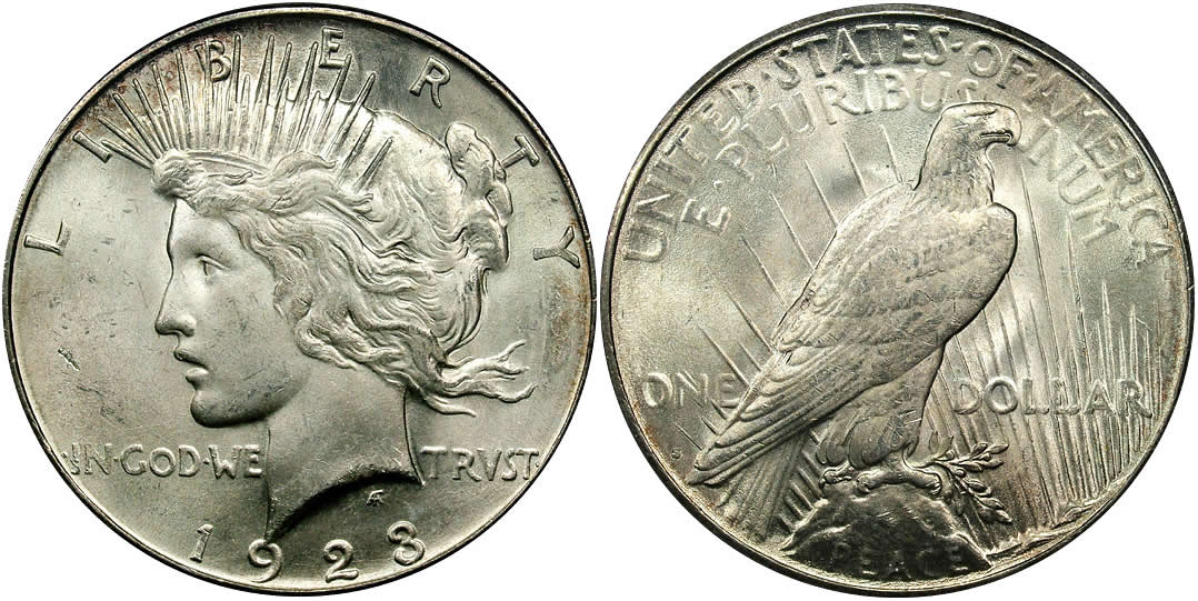 1923 S Peace Dollar PCGS MS-64