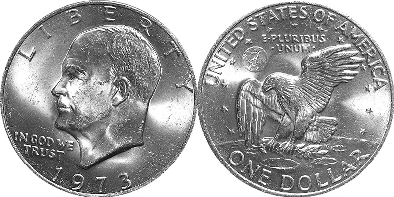 $1 Dollar BU Uncirculated in OGP mint cello Last Year Ike 1978 D Eisenhower