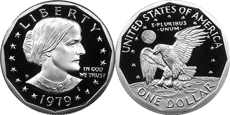 1979 S Susan B Anthony Dollar Photos Mintage