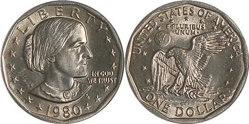 1980 Susan B. Anthony Dollar