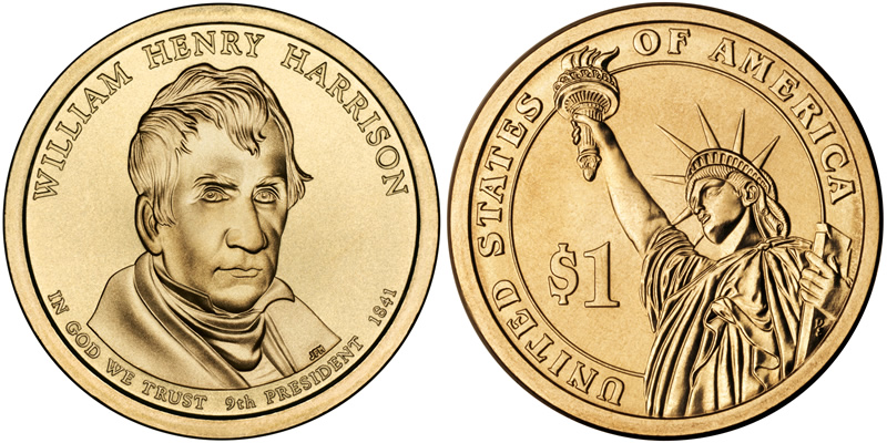2009 D William Henry Harrison Presidential Dollar