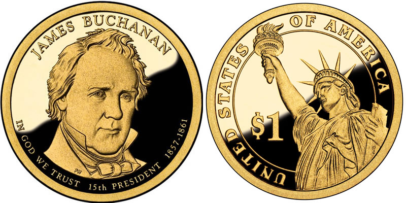 2010 S James Buchanan Presidential Dollar