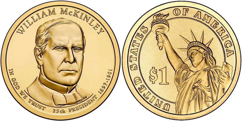 2013 D William McKinley Presidential Dollar