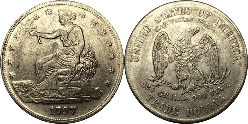 1797 trade dollar coin