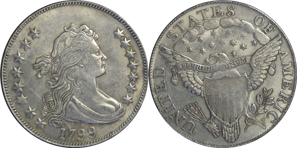 1799 Draped Bust Dollar Photos Mintage Specifications