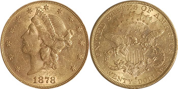 1878 S Liberty Head Double Eagle
