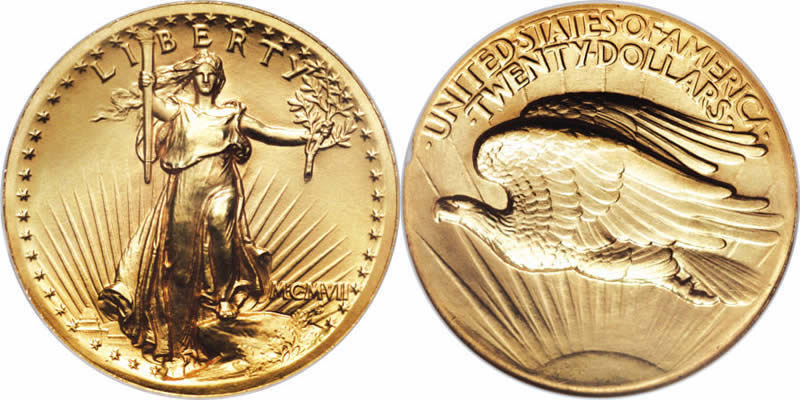 us 1907 gold saint gaudens high relief double eagle history coin community. Black Bedroom Furniture Sets. Home Design Ideas