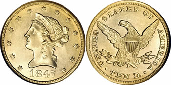 1838-1866 Liberty Head - No Motto Eagle