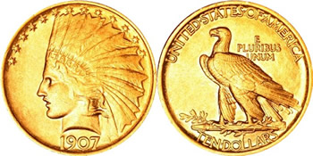 1907-1933 Indian Head Eagle