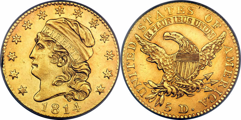 1814 Capped Bust Half Eagle
