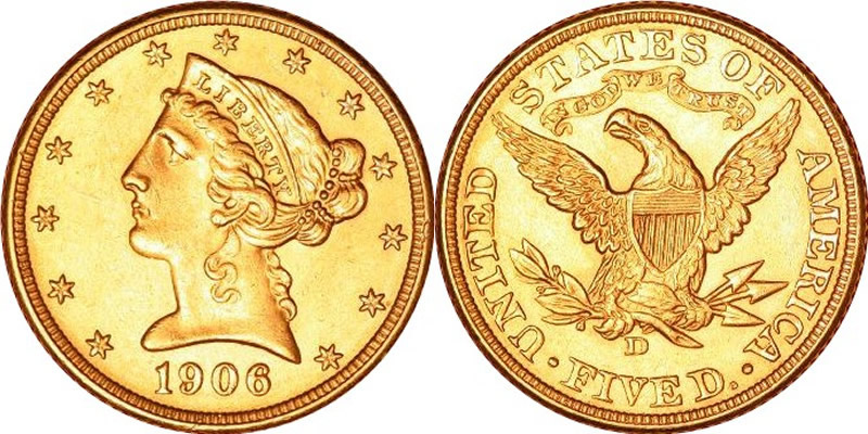 Liberty Head (With Motto) Half Eagle