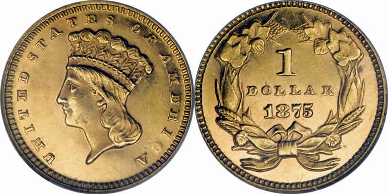 Indian Princess Gold Dollar  w/ Large Indian Head