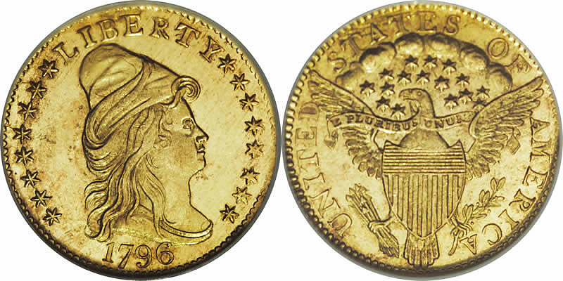 Gold Capped Bust Right Quarter Eagles 1796 Capped Bust Quarter Eagle