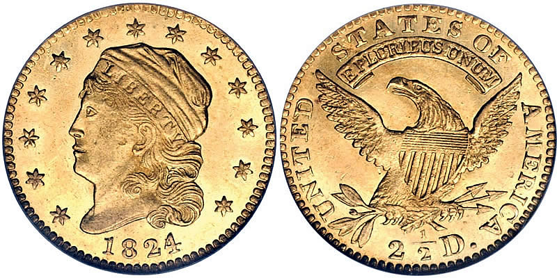 Capped Bust (Head Left) Quarter Eagle